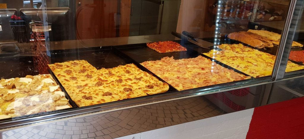 Roman pizza by the slice