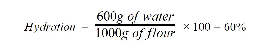 Pizza dough hydration formula