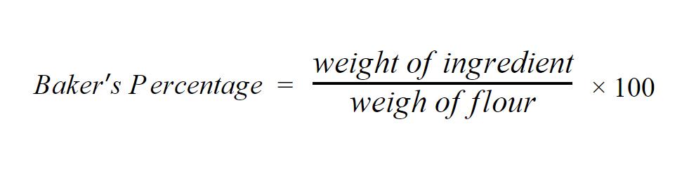 bakers percentage formula